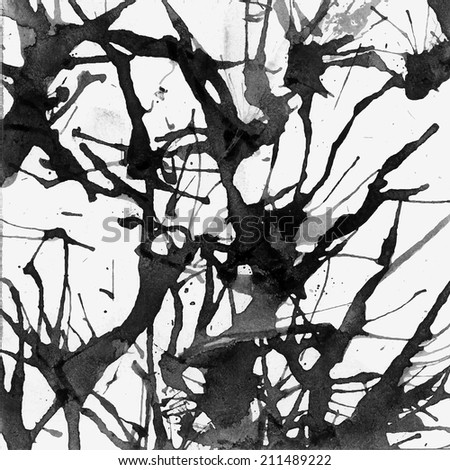 Grunge vector paint ink blot background - stock vector