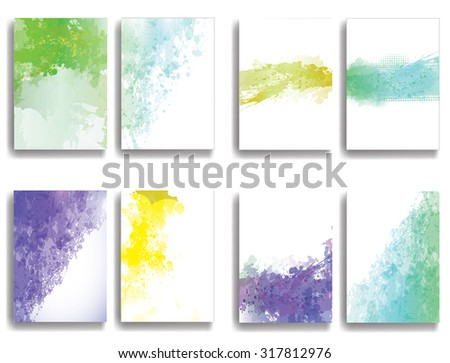Grunge Vector Poster Templates  - stock vector