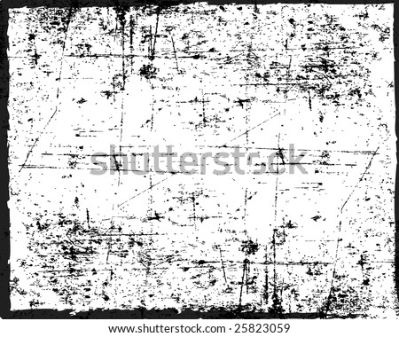 Grunge vector texture can also be used as a frame - stock vector