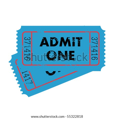 Grunge Vector Tickets - stock vector
