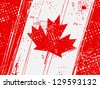 grunge vintage flag of canada - stock photo