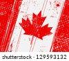 grunge vintage flag of canada - stock photo