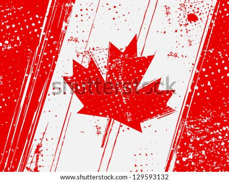 grunge vintage flag of canada - stock vector