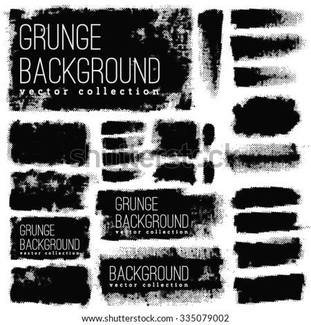 Grunge  vintage halftone vector ink print background - stock vector