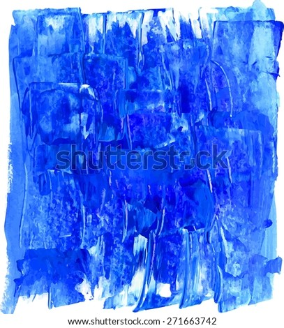 Grunge watercolor texture. Handmade paper blue background.