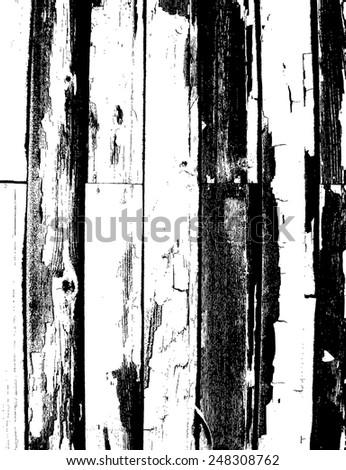 Grunge Wood Vector Overlay texture - stock vector