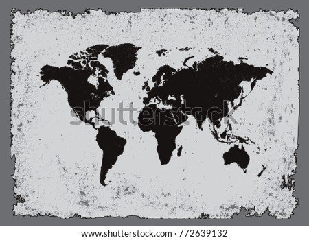 Grunge world map map world stock vector royalty free 772639132 grunge world mapold map of the world gumiabroncs Images