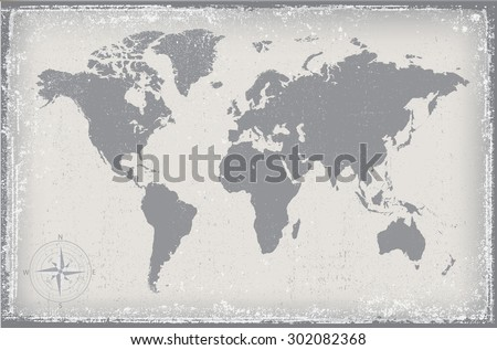 Grunge world map vector world map stock vector hd royalty free grunge world mapold vector world map gumiabroncs Choice Image