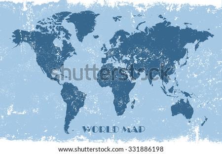 Grunge world map world map vector illustration stock vector royalty grunge world mapold world mapctor illustration gumiabroncs Images