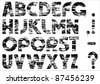 Grungy alphabet.Vector illustration - stock vector