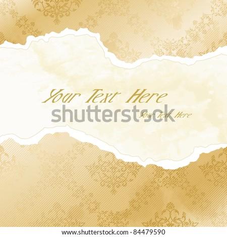 Grungy arabesque wallpaper banner (eps10);  jpg version also available - stock vector