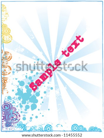 Grungy background with copy space - stock vector