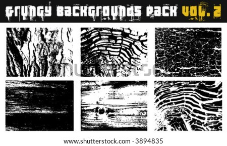Grungy backgrounds Pack Vol. 2 - stock vector