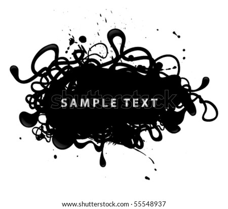 grungy banner on white background - stock vector