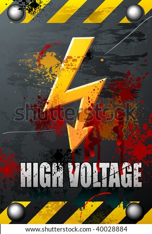 High voltage symbol Stock Photos, Illustrations, and Vector Art