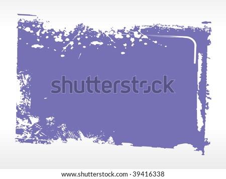 grungy blue background frame, vector illustration - stock vector