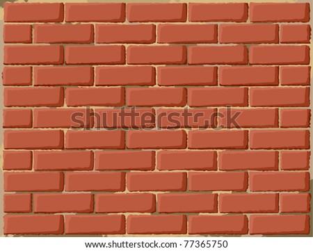 Grungy brick wall - stock vector