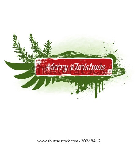 Grungy Christmas Banner I. - stock vector