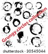 Grungy circles collection - stock photo