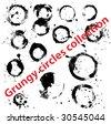 Grungy circles collection - stock vector