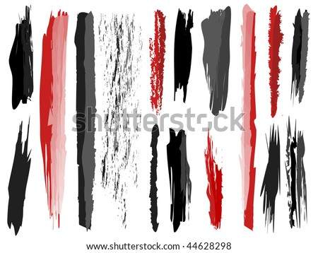 grungy design elements - stock vector