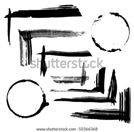 grungy design elements - stock vector