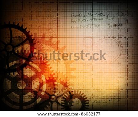 grungy design technology theme background. eps10 vector illustration. - stock vector