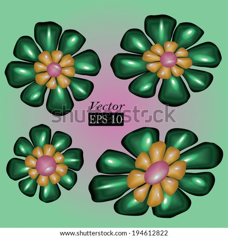 Grungy flowers. Can be used as a design element or a background. Editable pattern in vector format. - stock vector