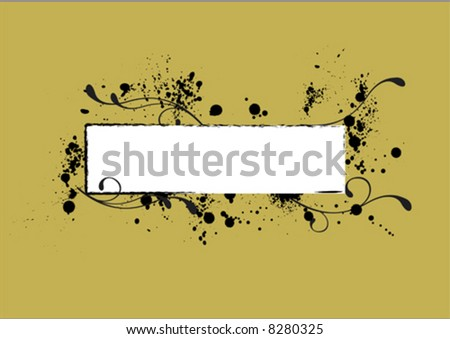 grungy nametag to write in - stock vector