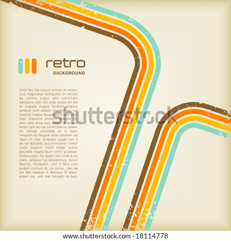 grungy retro background with copyspace for your text - stock vector