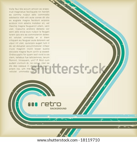 grungy retro-background with copyspace for your text - stock vector