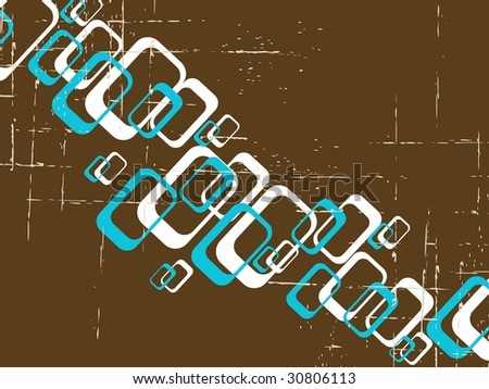 Grungy Retro background with rectangles. can also be used without the grunge layer (vector); a JPG version is also available - stock vector