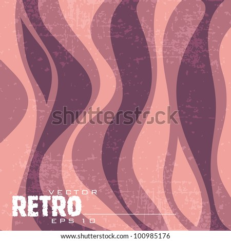 Grungy retro  wave background with copy space for your text. EPS 10. Vector illustration. - stock vector