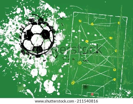 grungy soccer football, illustration vector format - stock vector