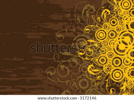 Grungy textured abstract - stock vector