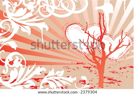 Grungy valentines - stock vector