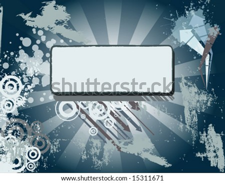 Grungy vector background - stock vector
