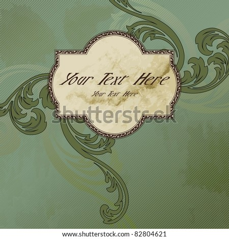 Grungy Victorian vintage label (eps10); jpg version also available - stock vector