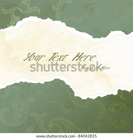 Grungy Victorian wallpaper banner (eps10);  jpg version also available - stock vector