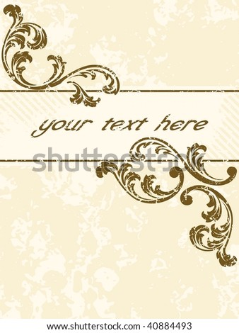 Grungy vintage sepia banner, vertical (vector); a JPG version is also available - stock vector
