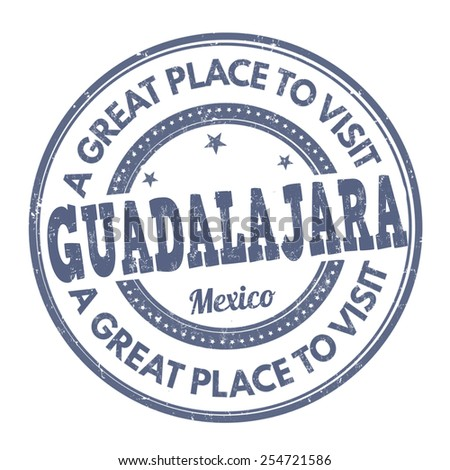 Guadalajara grunge rubber stamp on white background, vector illustration