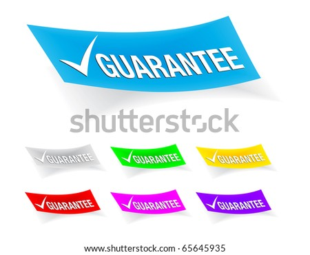 guarantee check-mark,stickers