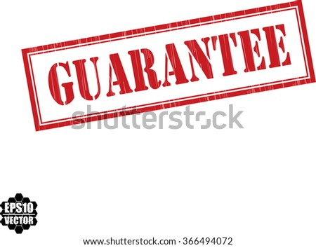 Guarantee grunge rubber stamp, vector illustration - stock vector