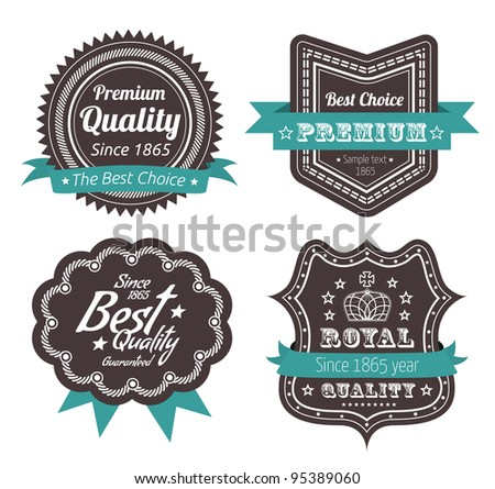 Guarantee Label - stock vector