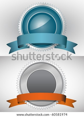 Guarantee Signs and Symbols. You can place your own text on this sign. - stock vector