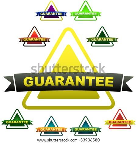 Guaranteed labels. Vector set. - stock vector