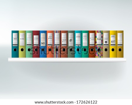 Guard-book. Folder shelf. - stock vector