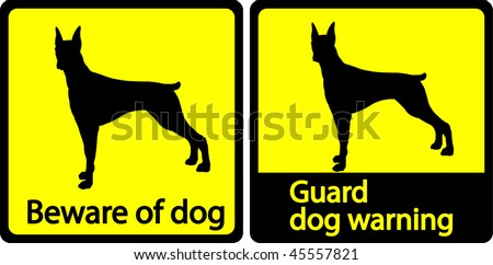 Guard dogs - stock vector