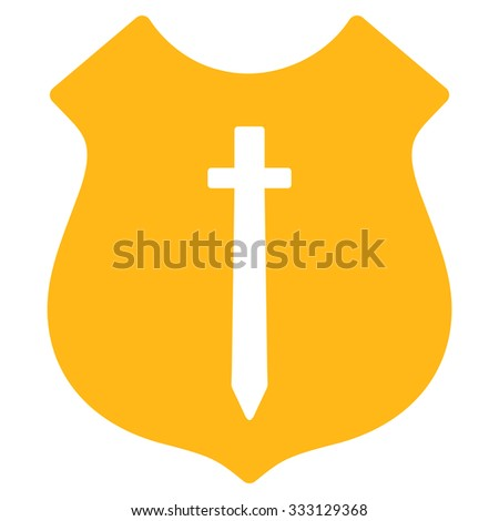 Guard Shield Vector Icon Style Flat Stock Vector 333129368