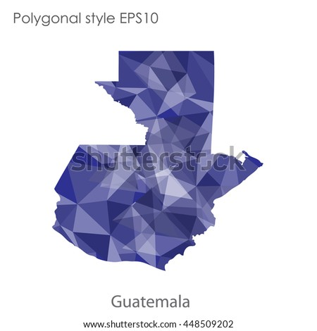 Guatemala map in geometric polygonal style.Abstract gems triangle,modern design background. Vector illustration EPS10
